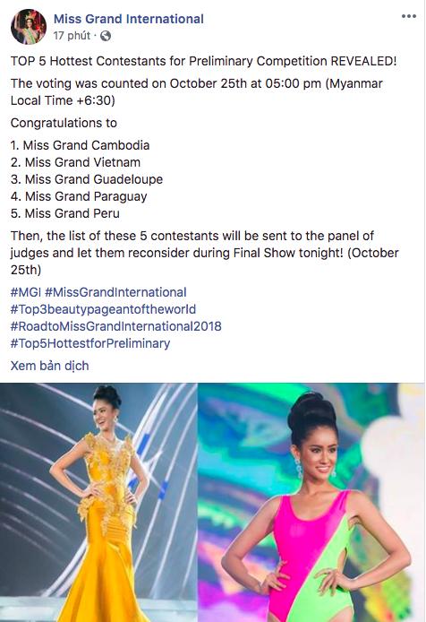Miss Grand International tung bảng xếp hạng quan trọng trước giờ G chung kết, Phương Nga giữ vị trí cao - Ảnh 1.