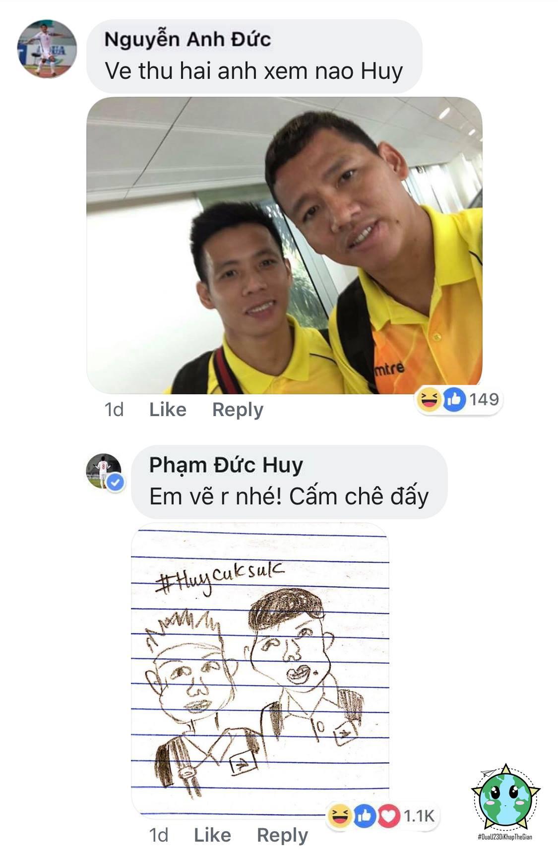 Fan mạo danh Đức Huy vẽ chân dung tuyển Việt Nam siêu hài hước - Ảnh