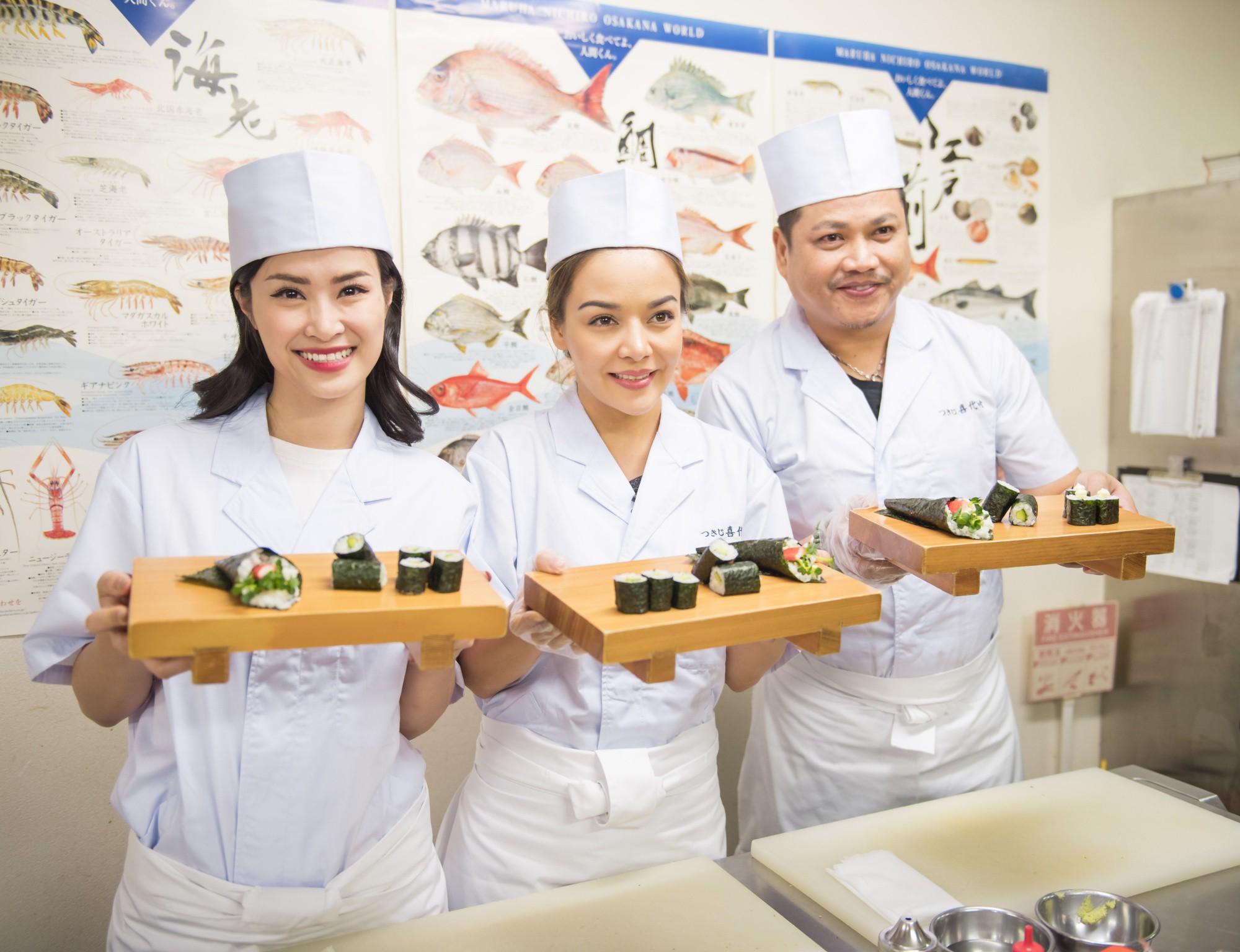 Đông Nhi hào hứng học làm sushi, cùng nghệ sĩ các nước ASEAN khám phá Nhật Bản - Ảnh 12.