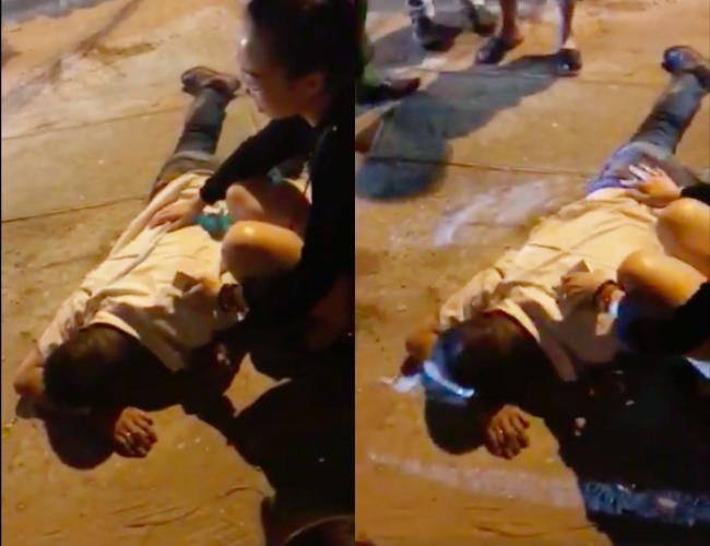 Hà Nội: Người đàn ông lái xe Mazda nghi nổ súng, chèn ô tô qua người tài xế taxi giữa phố rồi bỏ trốn - Ảnh 2.