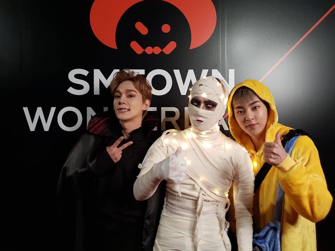 Tưng bừng tiệc Halloween khủng nhà SM: Taeyeon quá xuất sắc, nhưng Key và Baekhyun mới là sốc nhất - Ảnh 4.