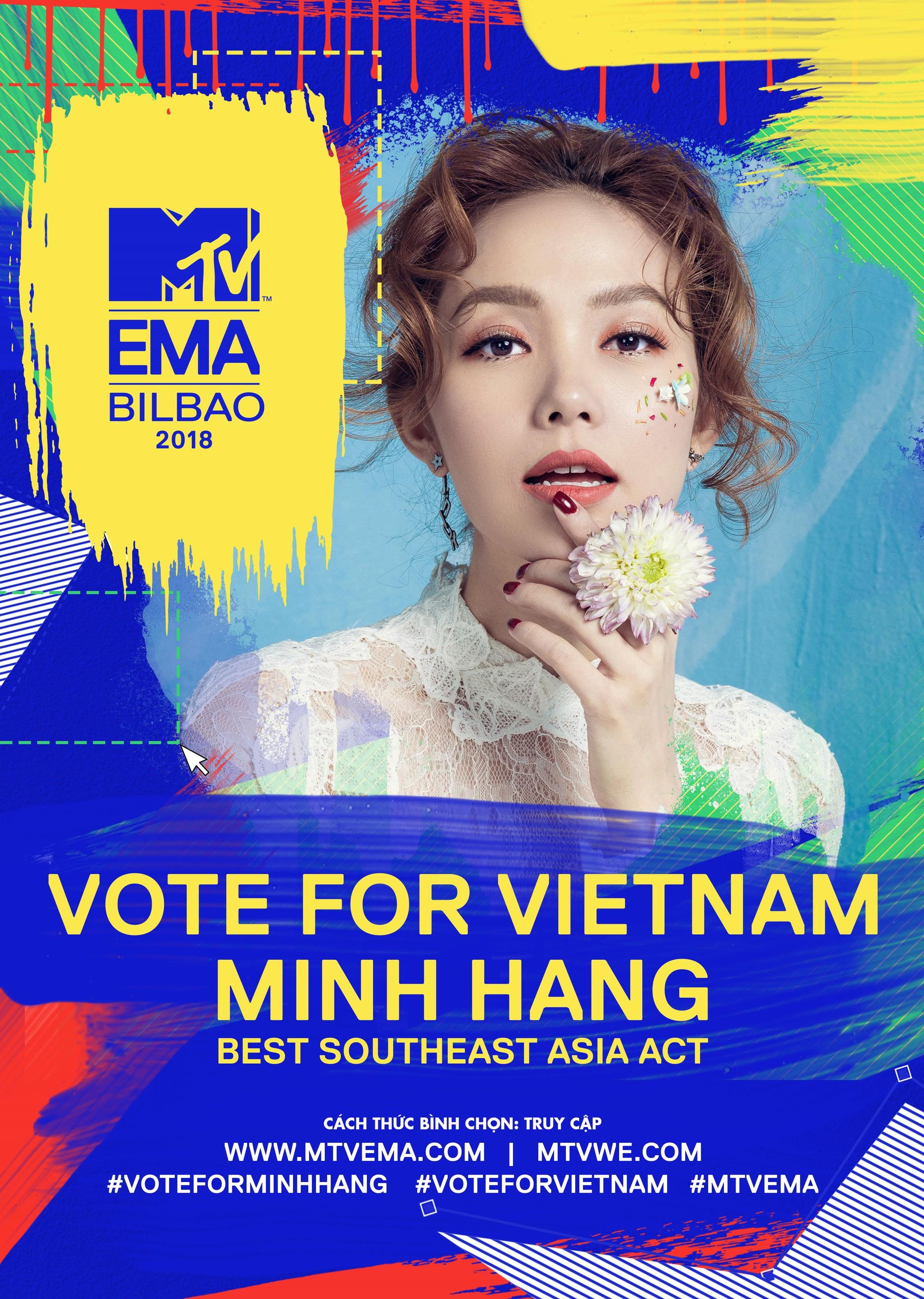 Minh Hằng đại diện Việt Nam tham dự MTV EMA 2018: Chuyện gì đang xảy ra? Những cái tên đình đám Vpop đâu rồi? - Ảnh 1.