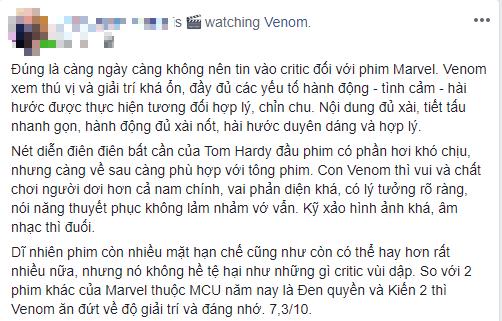 Khán giả Việt: Venom không tệ như những gì giới phê bình vùi dập - Ảnh 2.