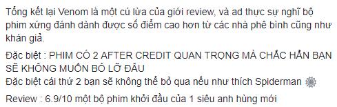 Khán giả Việt: Venom không tệ như những gì giới phê bình vùi dập - Ảnh 4.