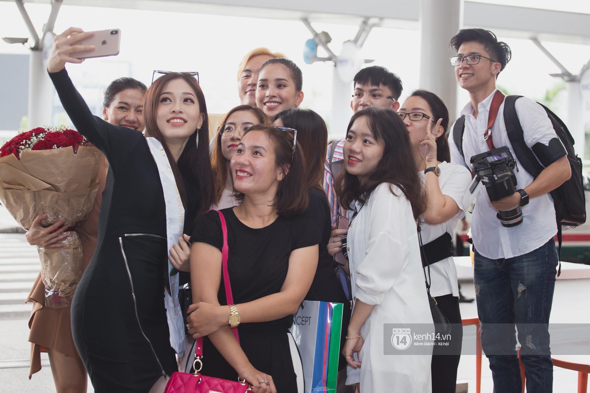 Vừa trở về từ Pháp tức thì, Trần Tiểu Vy ở lại sân bay tiễn Bùi Phương Nga đi Myanmar tham dự Hoa hậu Hoà bình Quốc tế - Ảnh 16.