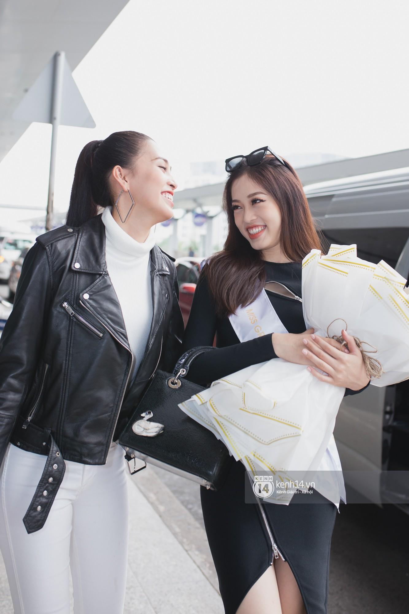 Vừa trở về từ Pháp tức thì, Trần Tiểu Vy ở lại sân bay tiễn Bùi Phương Nga đi Myanmar tham dự Hoa hậu Hoà bình Quốc tế - Ảnh 5.