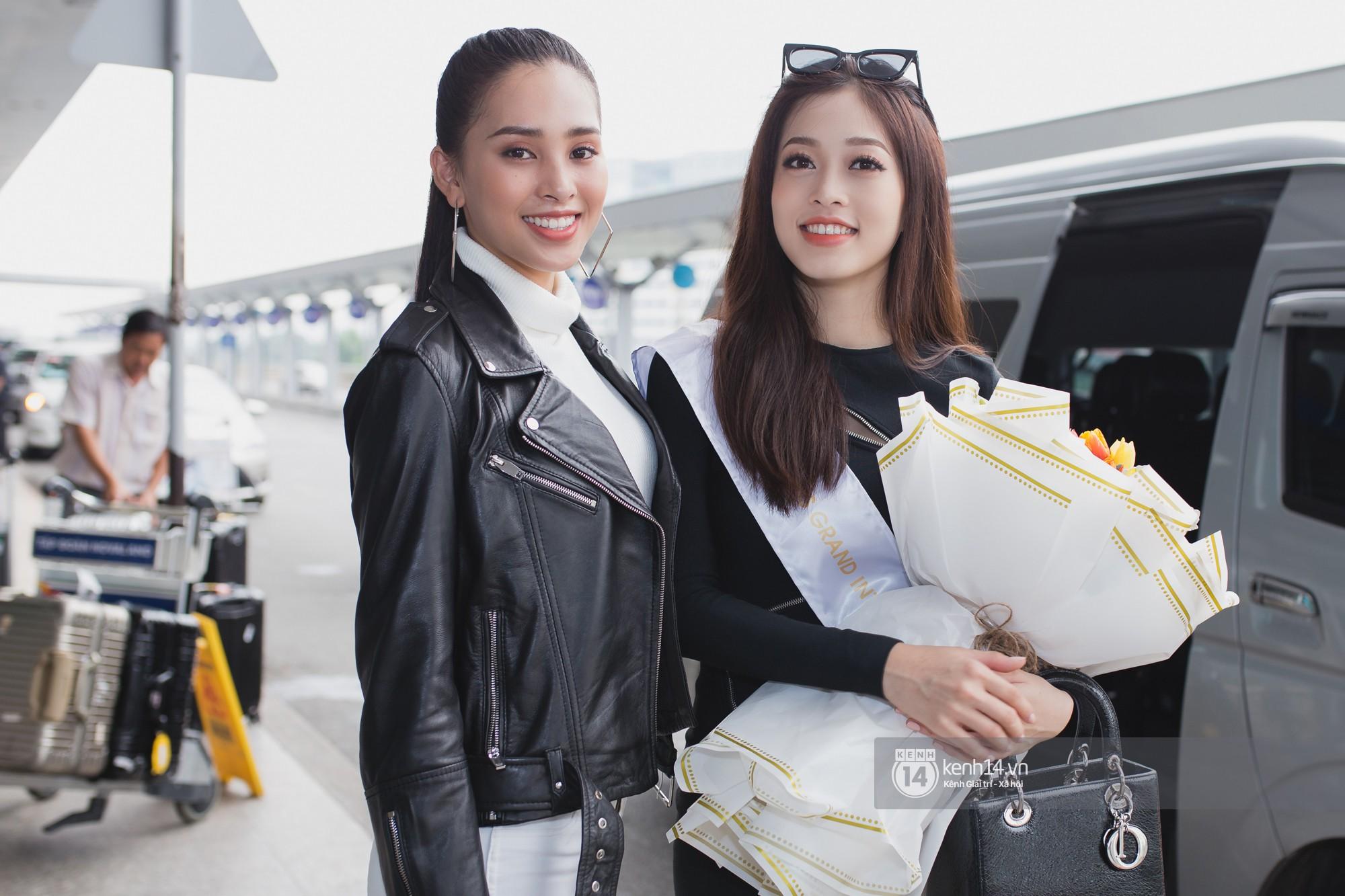 Trần Tiểu Vy ở lại sân bay tiễn Bùi Phương Nga đi thi Hoa hậu quốc tế - Ảnh 4.