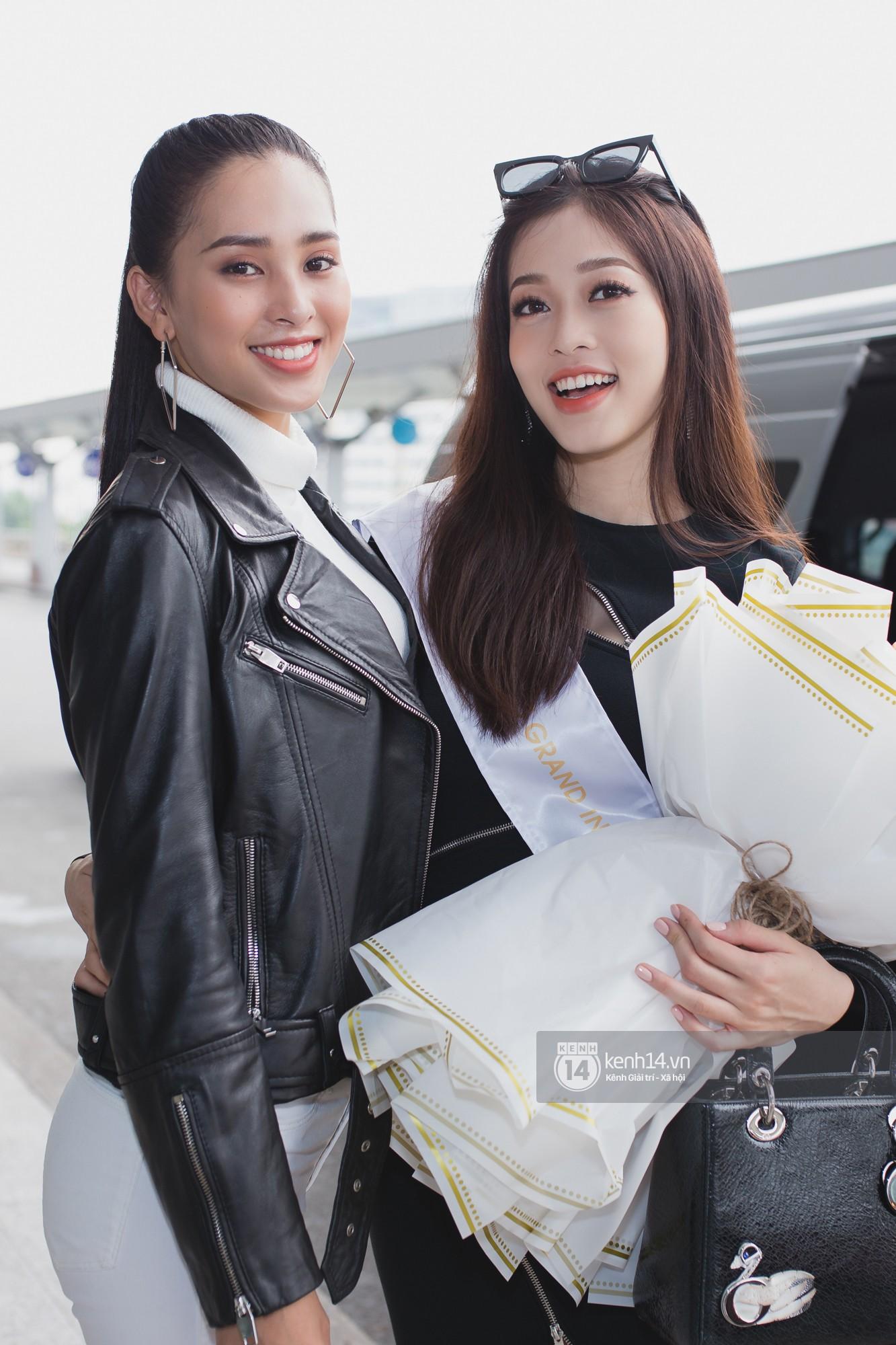 Vừa trở về từ Pháp tức thì, Trần Tiểu Vy ở lại sân bay tiễn Bùi Phương Nga đi Myanmar tham dự Hoa hậu Hoà bình Quốc tế - Ảnh 3.