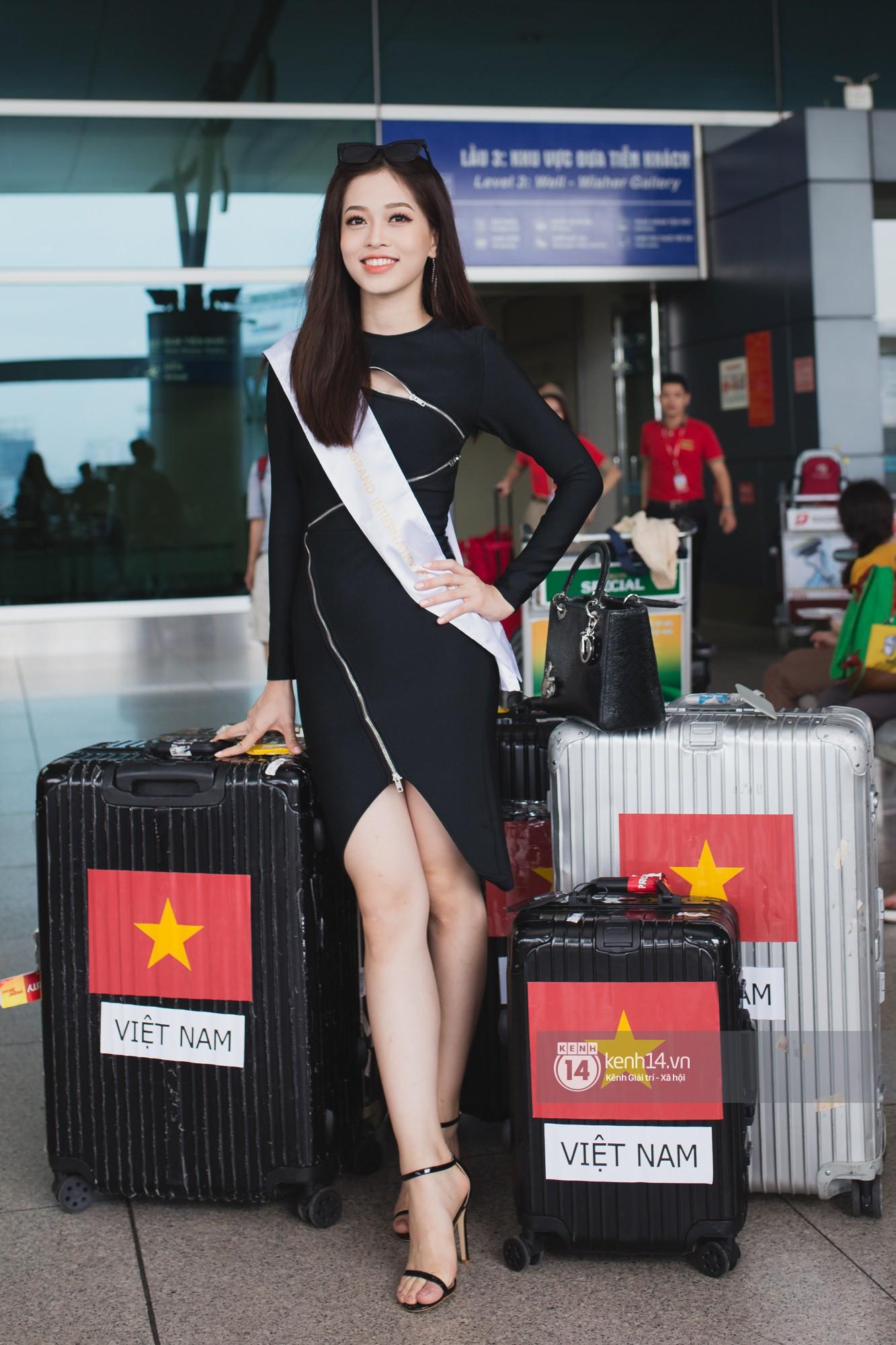 Vừa trở về từ Pháp tức thì, Trần Tiểu Vy ở lại sân bay tiễn Bùi Phương Nga đi Myanmar tham dự Hoa hậu Hoà bình Quốc tế - Ảnh 1.