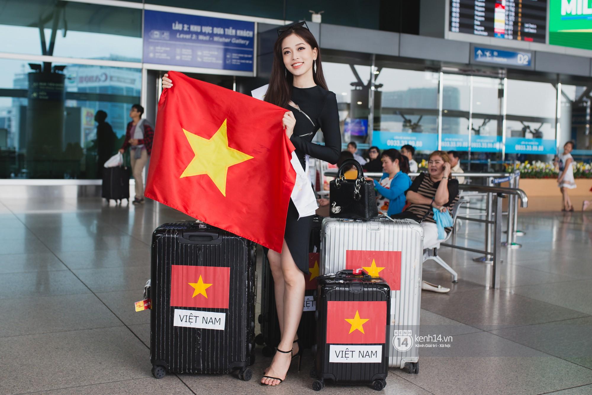 Vừa trở về từ Pháp tức thì, Trần Tiểu Vy ở lại sân bay tiễn Bùi Phương Nga đi Myanmar tham dự Hoa hậu Hoà bình Quốc tế - Ảnh 2.