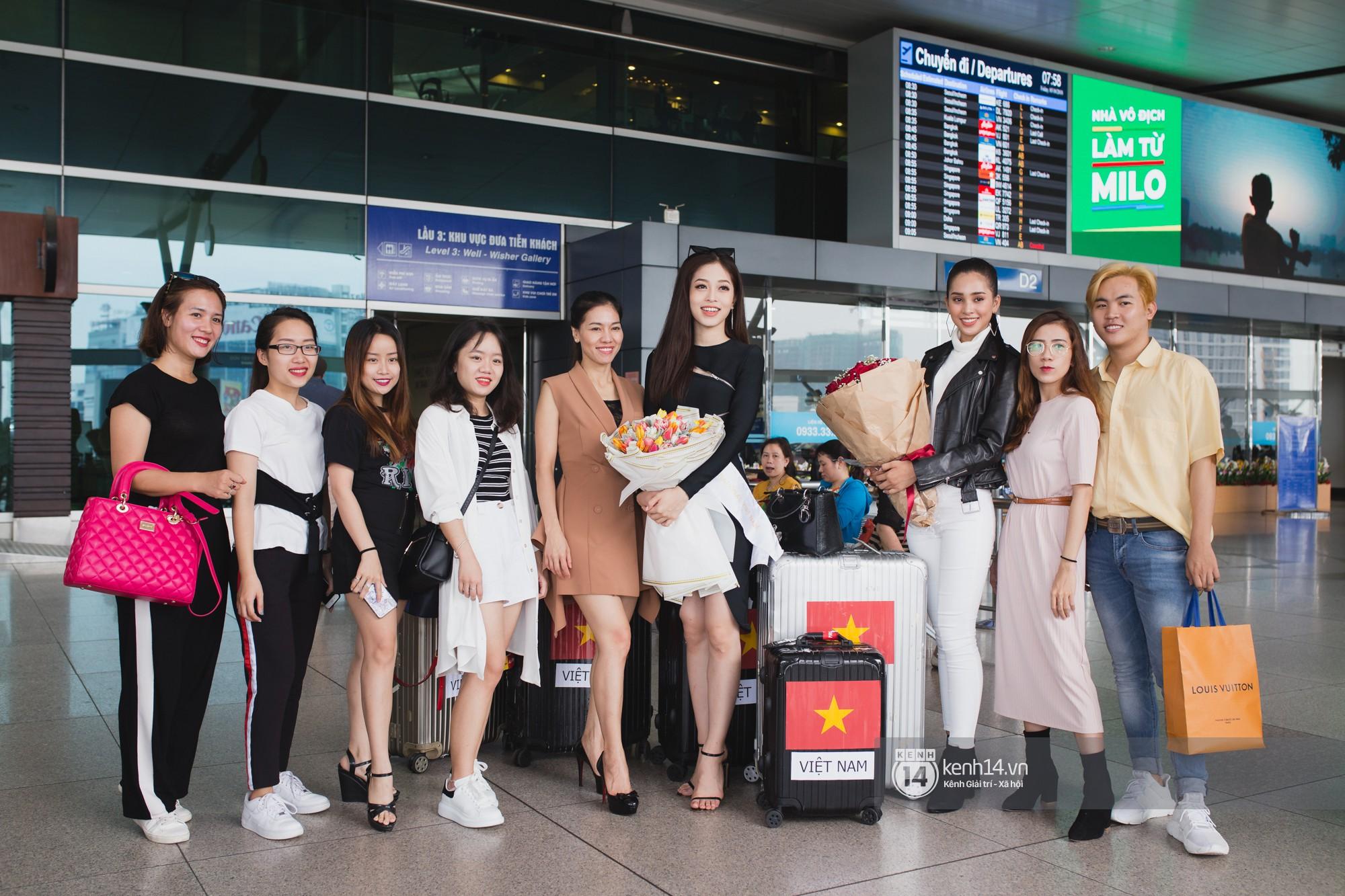 Vừa trở về từ Pháp tức thì, Trần Tiểu Vy ở lại sân bay tiễn Bùi Phương Nga đi Myanmar tham dự Hoa hậu Hoà bình Quốc tế - Ảnh 15.