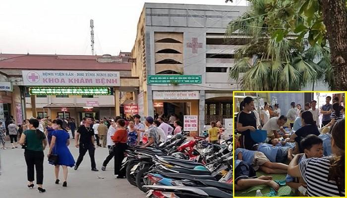 280 học sinh ở Ninh Bình nhập viện sau bữa trưa: Phụ huynh gào khóc tìm con - Ảnh 1.