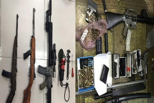 Choáng với kho vũ khí AK 47, AR 15 của 2 lái súng Quảng Ninh, Bắc Ninh - Ảnh 1.