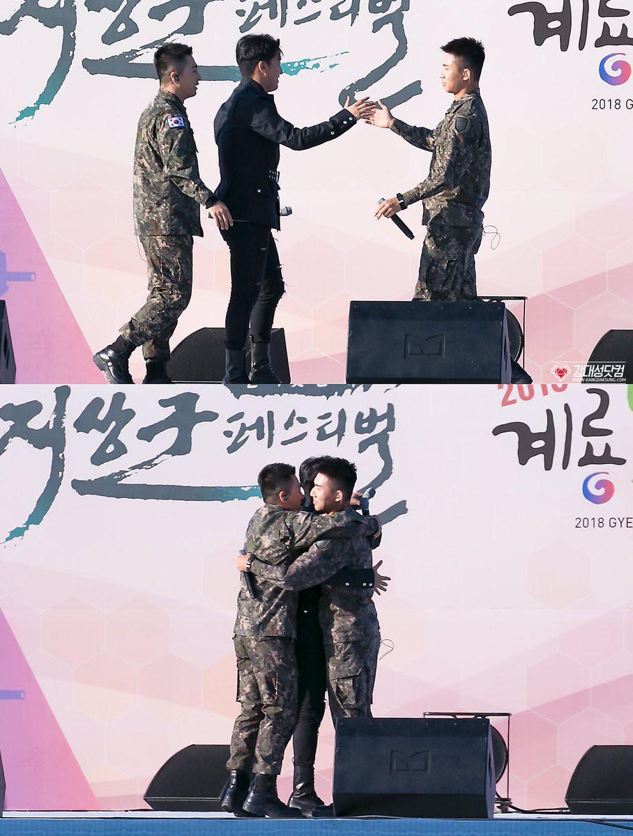 Rơi nước mắt vì khoảnh khắc Seungri đến thăm Taeyang, Daesung và cùng biểu diễn loạt hit Big Bang trong quân ngũ - Ảnh 7.