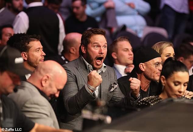 Thánh phá game Star-Lord cùng dàn sao Hollywood tới xem trận MMA lớn nhất lịch sử - Ảnh 3.