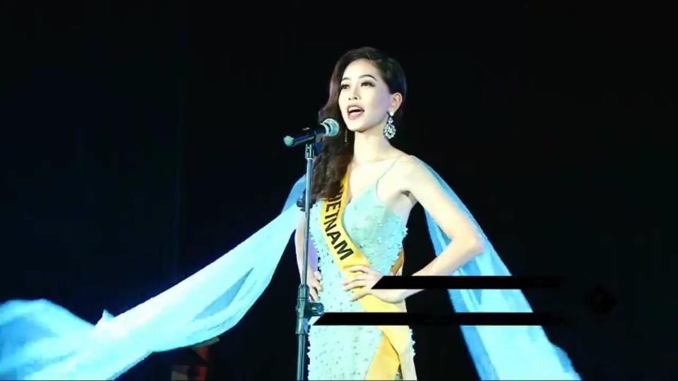Phương Nga xuất hiện đầy tự tin, hô to hai tiếng Việt Nam trong phần giới thiệu tại Miss Grand International 2018 - Ảnh 3.