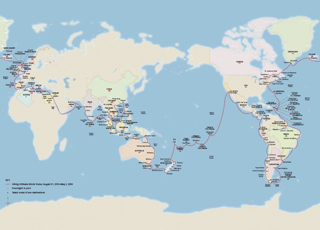 Ngắm nhìn Viking Sun - Siêu du thuyền có hành trình dài nhất thế giới: Ghé thăm 113 cảng tại 59 quốc gia - Ảnh 2.