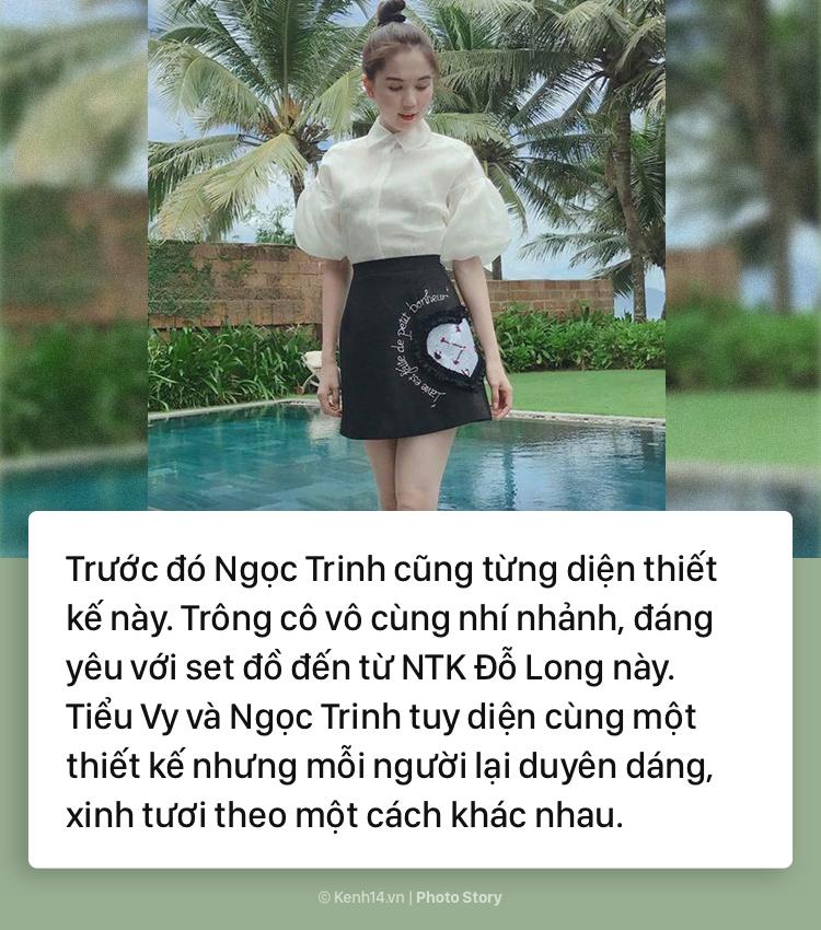 Hoa hậu Tiểu Vy và những pha đụng hàng với cả showbiz Việt - Ảnh 3.