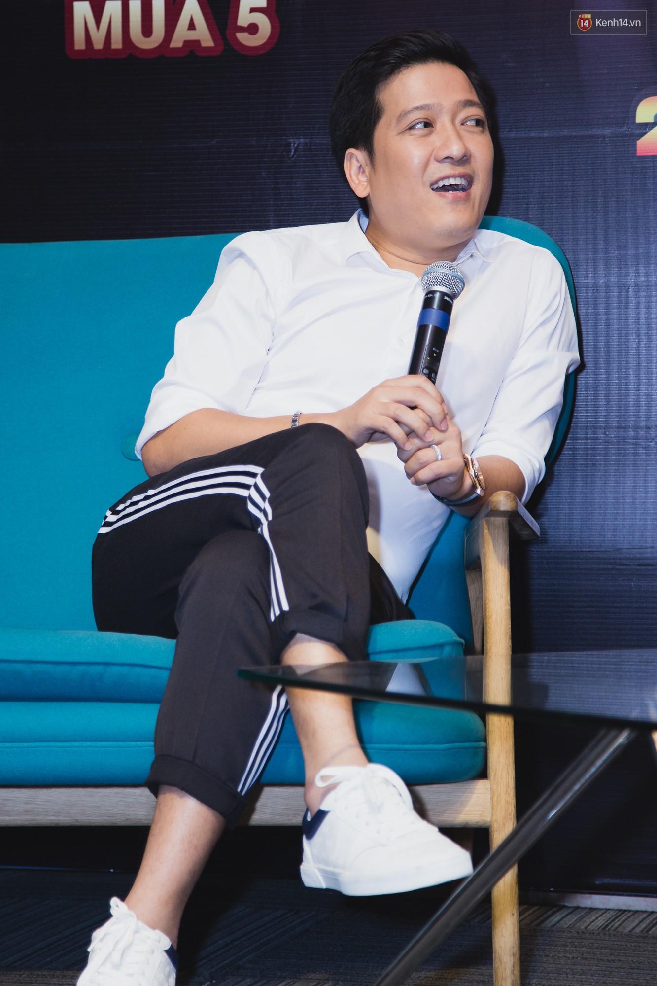Trường Giang, Ngô Kiến Huy né những câu hỏi về tình cảm trong họp báo Thách thức danh hài - Ảnh 4.