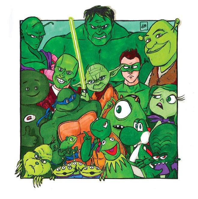 Sẽ ra sao nếu phân loại siêu anh hùng và nhân vật hoạt hình theo màu sắc? - Ảnh 6.