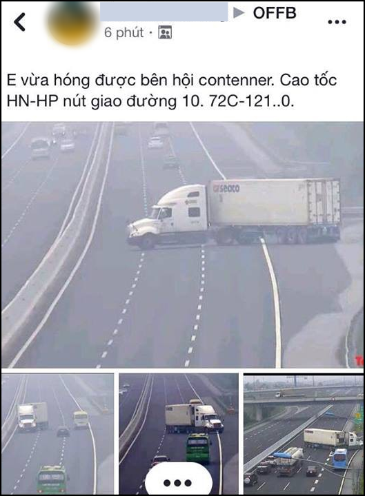The driver suddenly turns in the opposite direction to Ha Noi - Hai Phong Street - photo 1.