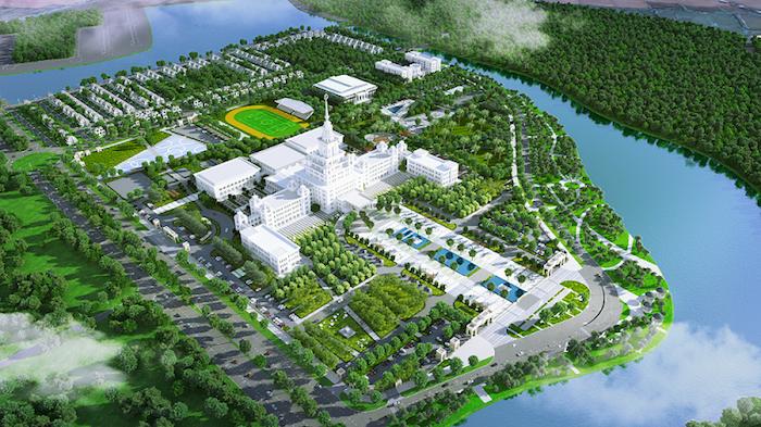 Đại học VinUni: Rộng 23 hecta, giống như lâu đài 10 tầng với tháp 108m - Ảnh 2.