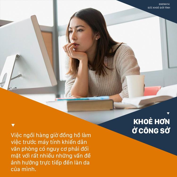Dân văn phòng ngồi máy tính nhiều nên làn da bị khô xỉn thì hãy áp dụng Eat Clean ngay để khắc phục - Ảnh 1.