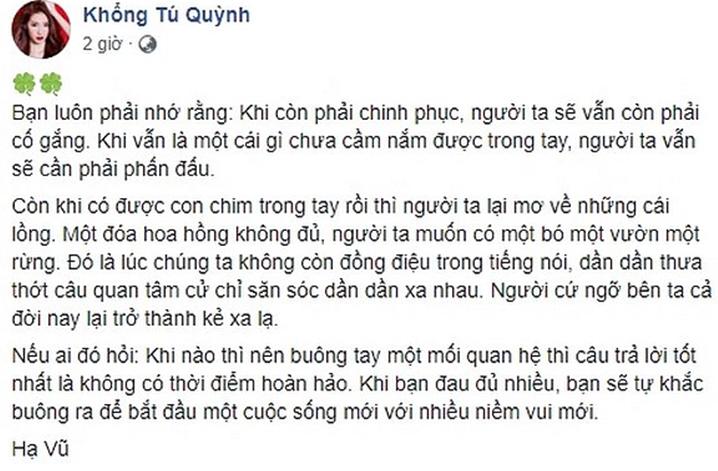 Sự thật sau chia sẻ ẩn ý của Khổng You Quỳnh về chuyện đã buông tay Ngô Kiến Huy - Ảnh 1.