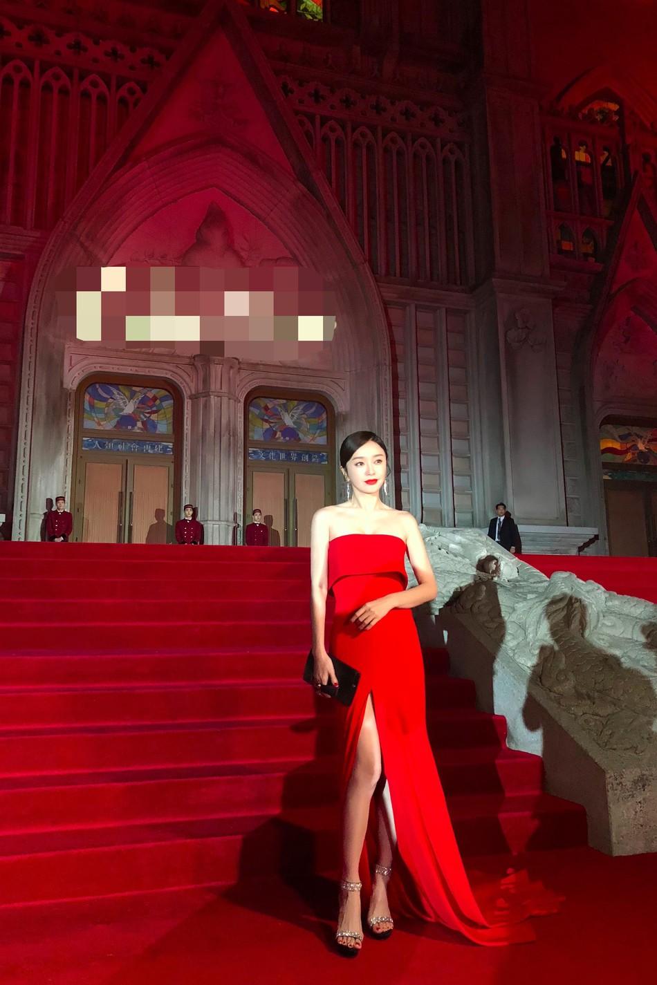 Hoàng Hậu Tần Lam khoe sắc vóc ngọc ngà, vòng 1 e ấp tại thảm đỏ sự kiện Hàn Quốc - Ảnh 4.