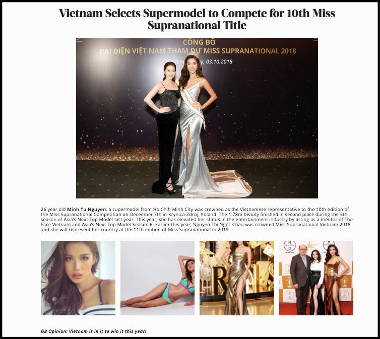 Minh Tú được chuyên trang sắc đẹp Global Beauties dự đoán sẽ lọt Top 3 Miss Supranational 2018 - Ảnh 2.