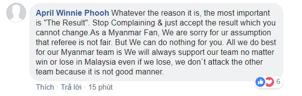 Bạn bè quốc tế khuyên fan Việt chấp nhận kết quả, ngừng lên mạng chửi bới trọng tài - Ảnh 2.