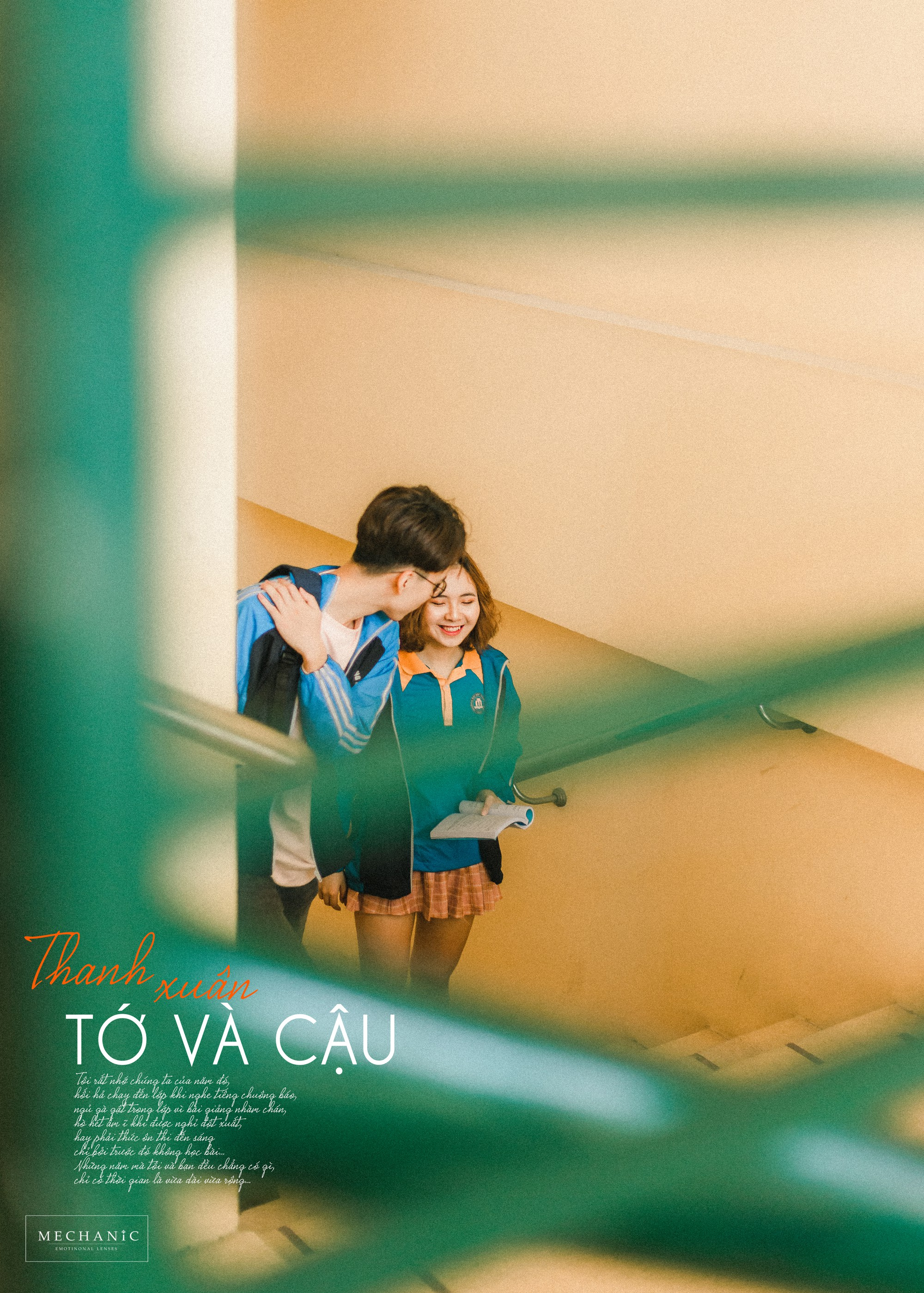 Mặc đồng phục, chụp ảnh ở những góc quen thuộc của trường, cặp đôi 10x cho ra đời bộ ảnh lãng mạn, tình bể bình - Ảnh 7. Cặp đôi 10x cho ra đời bộ ảnh siêu lãng mạn, tình bể bình ngay trường học