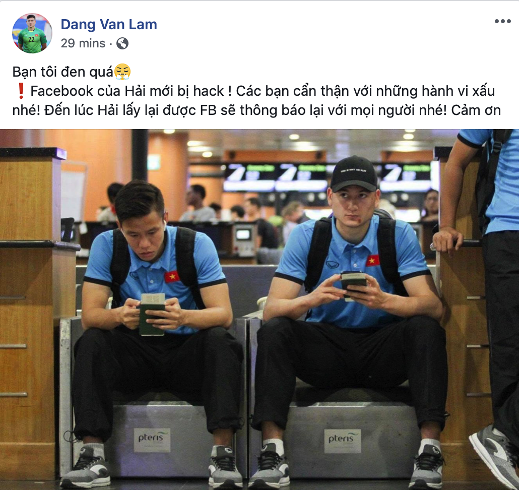 Que Ngoc Hai hacked Facebook: Van Lam angry, Duc Chinh released bitter words - Photo 1.