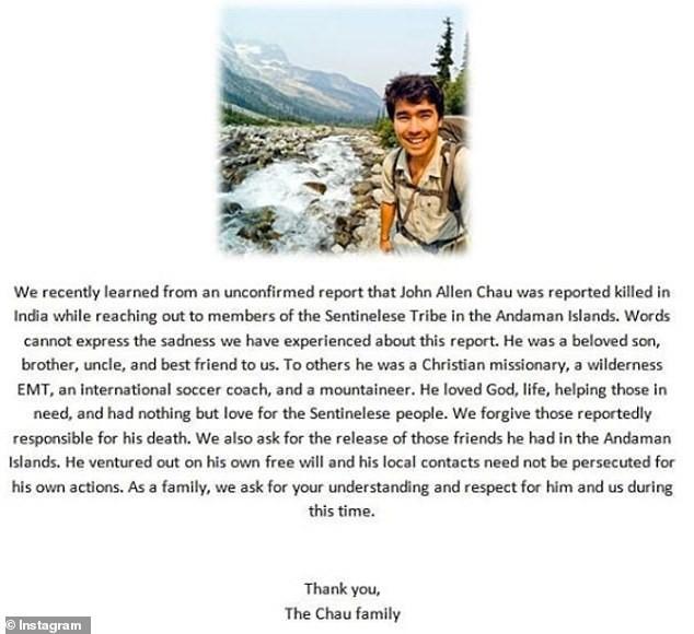 """Gặp bộ lạc """"thấy người lạ là giết"""", thanh niên Mỹ nhận kết cục bi thảm 6489598-6415649-image-m-131542833552044-1542895007554566272062"""