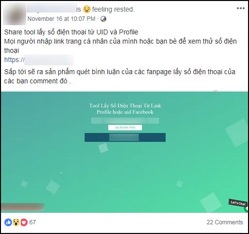 Xuất hiện website hack miễn phí SĐT bất kỳ ai trên Facebook, ẩn thông tin vẫn tìm dễ như bỡn - Ảnh 3.