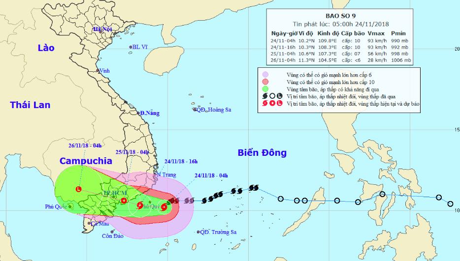 Bão số 9 sẽ quét từ Bình Thuận tới Bến Tre, chiều và đêm nay TP HCM mưa rất to - Ảnh 1.
