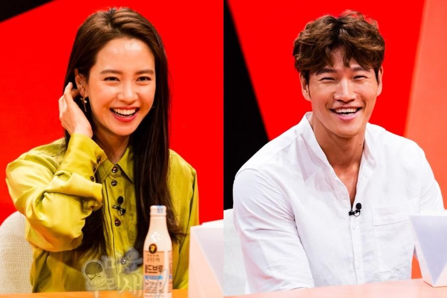 Từng bị gán ghép, Song Ji Hyo nói gì khi Kim Jong Kook mập mờ tình cảm với mỹ nhân Hong Jin Young? - Ảnh 1.
