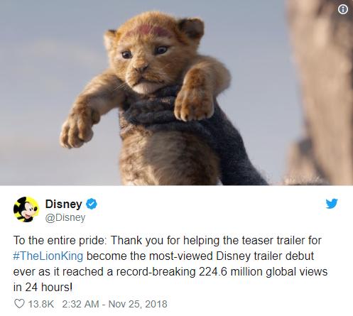 The Lion King lập kỷ lục trailer Disney có lượt xem cao nhất trong lịch sử - Ảnh 1.