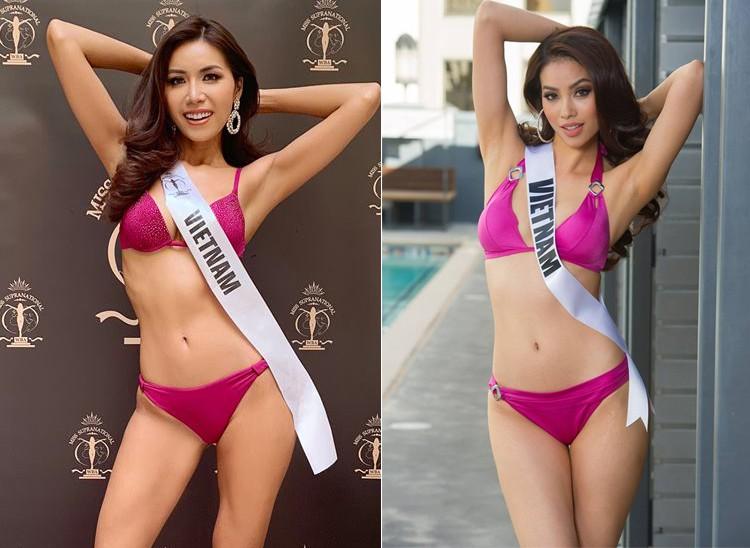 Minh Tu show bikini 0% body fat left to remind the image childhood Pham Huong - Photo 1.