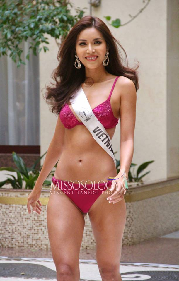 Minh Tu bikini show 0% body fat allowed remember the image of childhood Pham Huong - Photo 4.