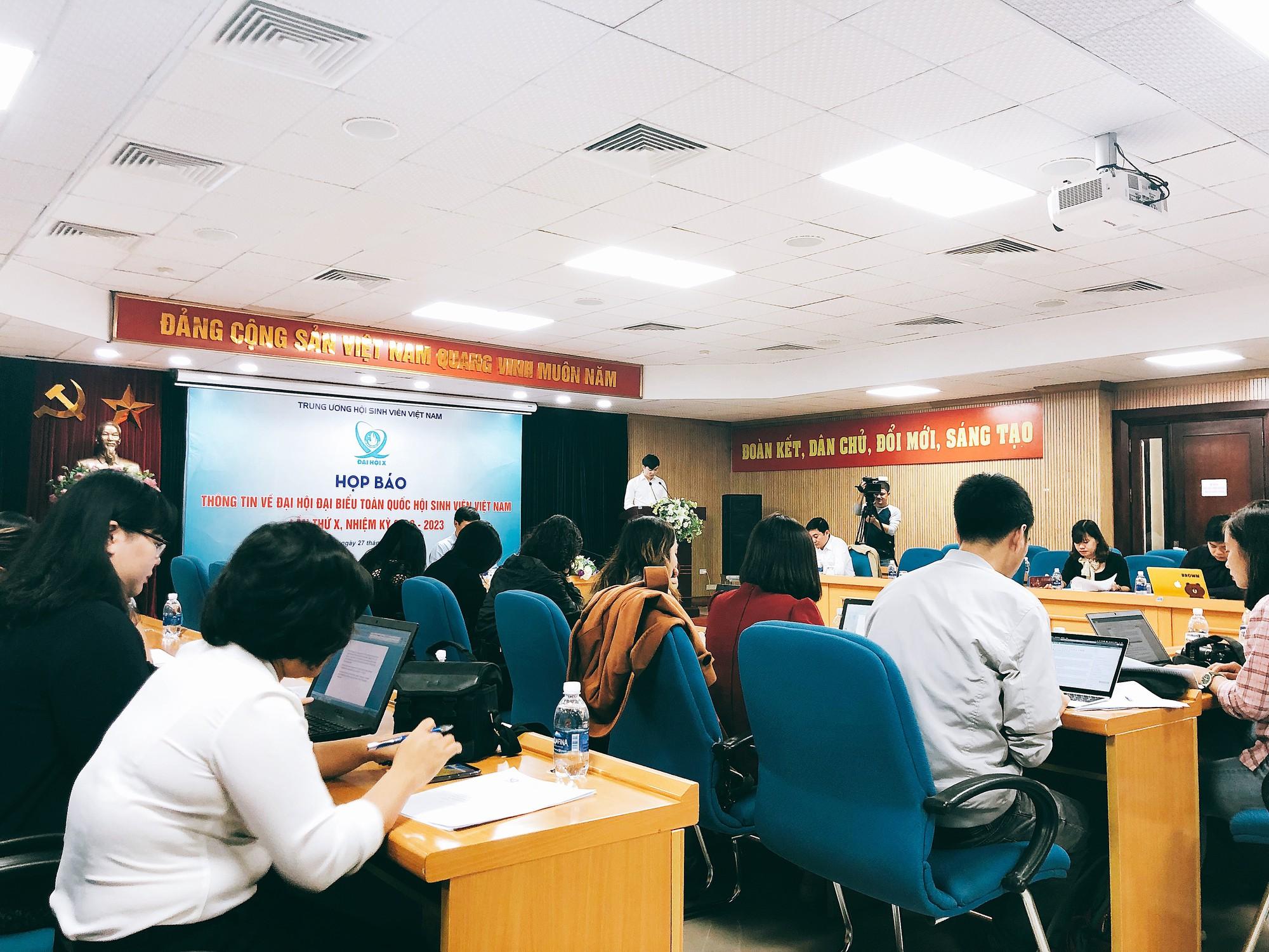Họp báo giới thiệu Đại hội đại biểu toàn quốc Hội Sinh viên Việt Nam lần thứ X nhiệm kỳ 2018 - 2023 - Ảnh 1.