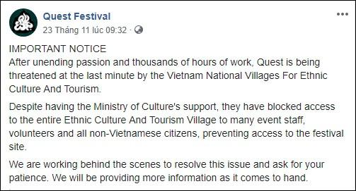 Lễ hội âm nhạc Quest Festival ở Hà Nội bị hủy vào giờ chót: Hàng nghìn khán giả vẫn đang mòn mỏi chờ được hoàn tiền - Ảnh 3.