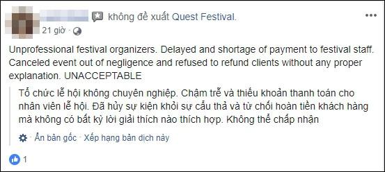 Lễ hội âm nhạc Quest Festival ở Hà Nội bị hủy vào giờ chót: Hàng nghìn khán giả vẫn đang mòn mỏi chờ được hoàn tiền - Ảnh 11.