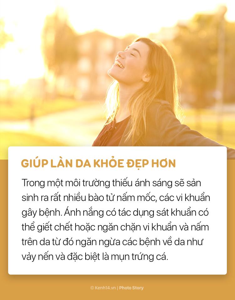Những lợi ích tuyệt vời của ánh nắng buổi sáng với sức khoẻ - Ảnh 1.
