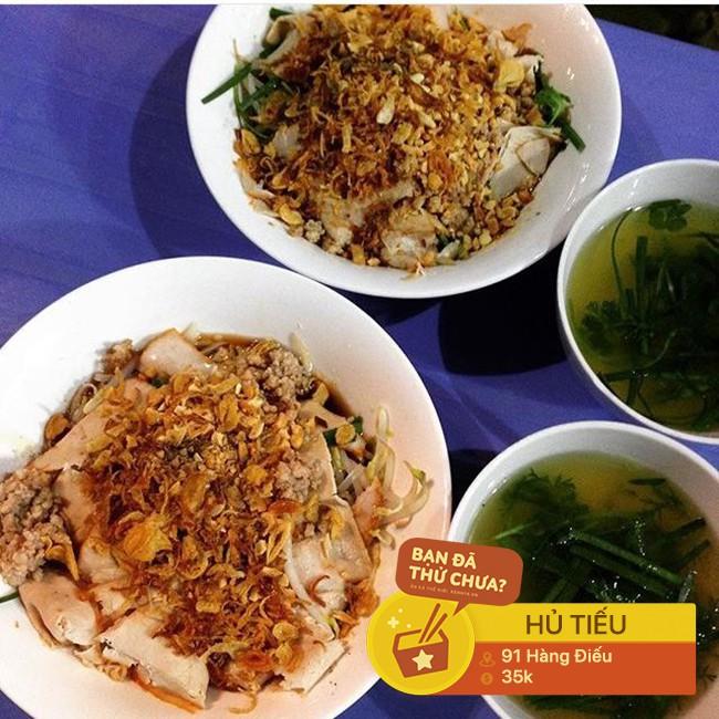 Chẳng biết từ bao giờ, con phố Hàng Điếu đã trở thành một khu ẩm thực nhộn nhịp từ sáng sớm tới tối mịt - Ảnh 13.