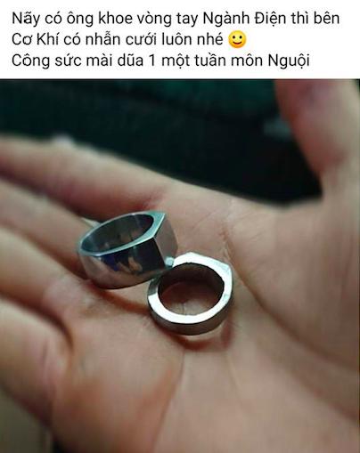 Khi con trai học ngành kĩ thuật cầu hôn: Nhẫn bện bằng dây đồng, kim cương chính là... ốc vít - Ảnh 7.