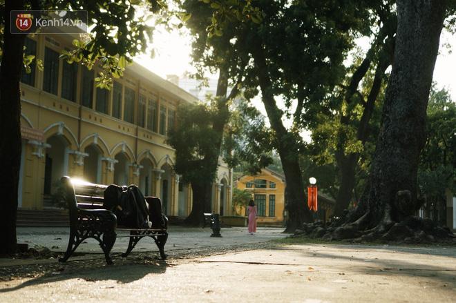Chùm ảnh nắng sân trường mùa thu đẹp nao lòng khiến chúng ta bồi hồi nhớ về một thời học sinh cắp sách đến trường - Ảnh 1.