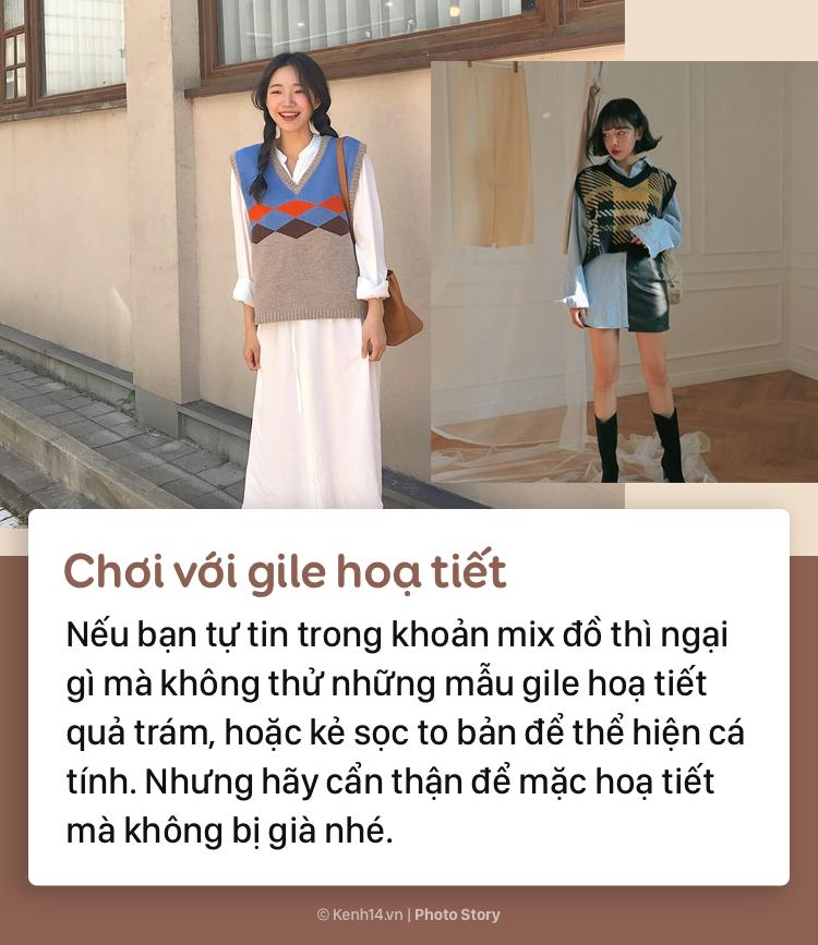 Tips để mặc áo gile bà già trẻ trung, thời thượng mùa thu đông năm nay - Ảnh 7.