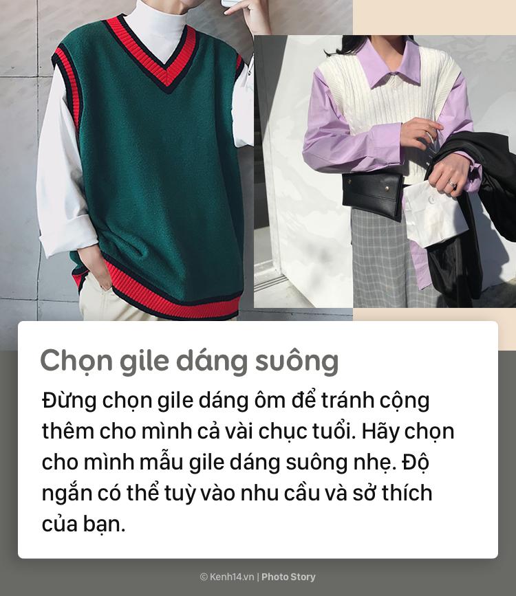 Tips để mặc áo gile bà già trẻ trung, thời thượng mùa thu đông năm nay - Ảnh 5.