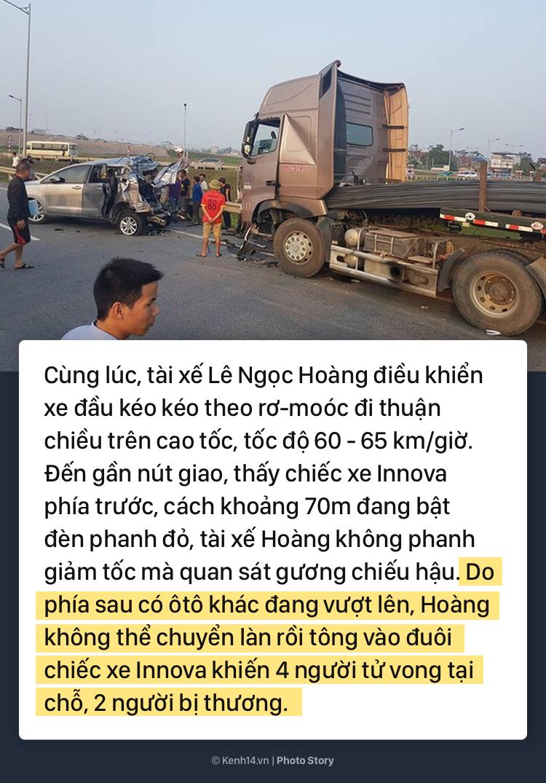 Toàn cảnh vụ xe container đâm nát đuôi xe Innova đang đi lùi trên đường cao tốc, làm 6 người thương vong - Ảnh 3.